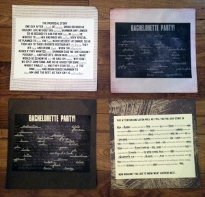 Easily Entertained - MadLib Placemats